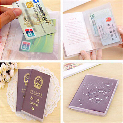 Simple Transparent Passport Cover Holder ID Card Travel Protector Organizer Case