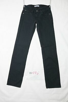 Levi's 570 STRAIGHT FIT STRETCH usato (Cod.W496) W27 L34  donna vita bassa