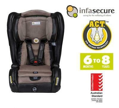 Infasecure Evolve Vogue Convertible Kid Infant Baby Car Seat 6mth - 8years Onyx