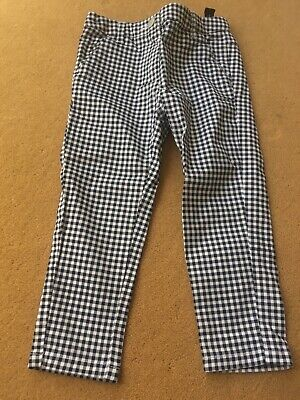 BN Next Age 3 Girls Black White Gingham Summer Trousers