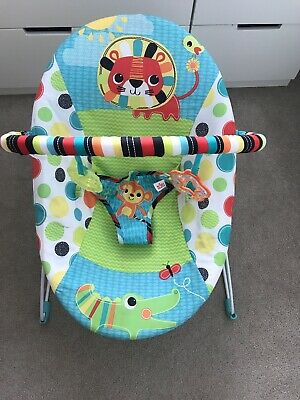 Brightstarts Vibrating Chair Bouncer Safari Excellent Condition