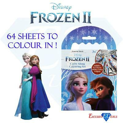 Disney Frozen 2 Children's Carry Along Travel Colouring Set Fun with Crayons