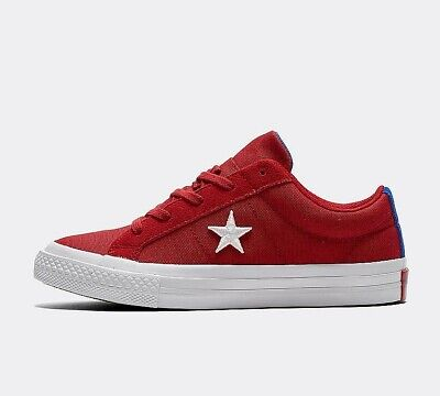 Infant Converse One Star Ox Country Pride Red Trainers (PF3) RRP £28.99