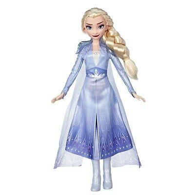 Disney Frozen Elsa Fashion Doll with Long Blonde Hair & Blue Outfit Inspired ...