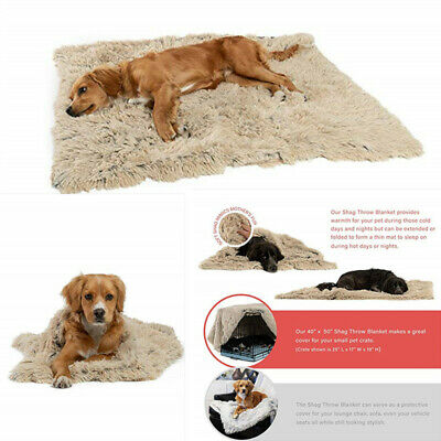 UK Extra Large Dog Cat Puppy Blanket Pet Soft Fluffy Blanket Cosy Warm Throw Mat