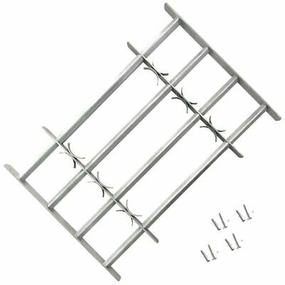 vidaXL Security Grille for Windows with 4 Crossbars 700-1050mm Safe Adjustable#