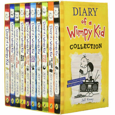 Diary of a Wimpy Kid 10 Books Collection Set by Jeff Kinney Cabin Paperback NEW