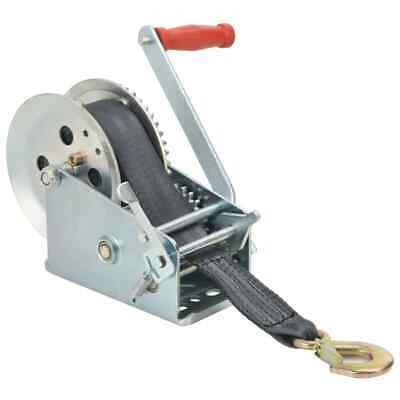 vidaXL Hand Winch with Strap 1360 kg Capacity Iron and Polyester Manual Winch#