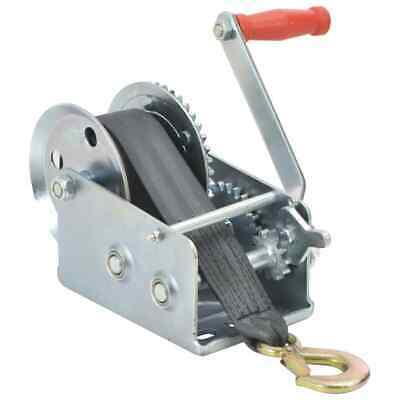 vidaXL Hand Winch with Strap 1130kg with Webbing Strap Puller Manual Winch#