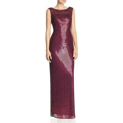 Adrianna Papell Womens Sequined Sleeveless Formal Evening Dress Gown BHFO 1958