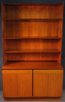 1960s Danish Teak And Rosewood Bookcase On Cabinet Base