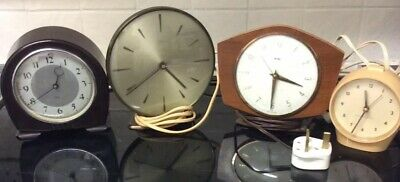 2 Smiths Sectric Bakelite & Metal Clocks Spares/Repairs &  2 Others