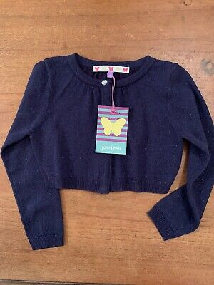Girls Cardigan/shrug Navy Sparkly Age 3 John Lewis New With Tags