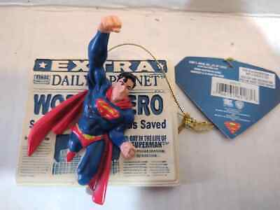 New DC Superman 3D Daily Planet Holiday Christmas Ornament Kurt Adler