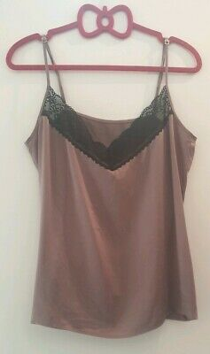 Quantun 95% Silk French Dusky Rose Camisole Top In Size 12 #16