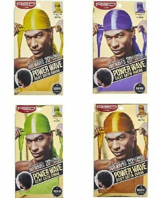 RED by KISS Power Wave Silky Satin Durag Rag 360 - CHOOSE COLOR - FREE SHIPPING