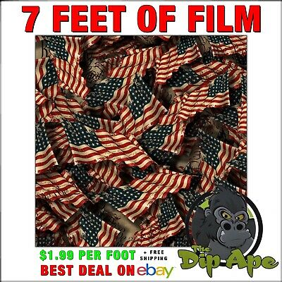HYDROGRAPHIC FILM FLAGS We the people  7 feet of film hydro dip dipping DIP APE