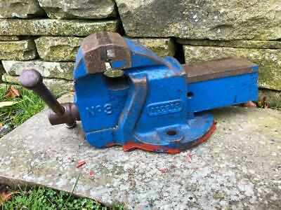 VINTAGE RECORD No3 ENGINEER BENCH VICE 4 INCH JAWS, 5 INCH OPENING GWO