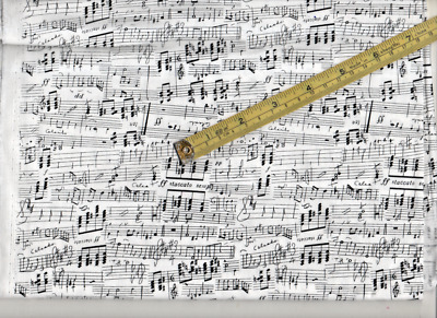 Music Sheet By Makower,Patchwork  Craft Fabric, 2 Meters