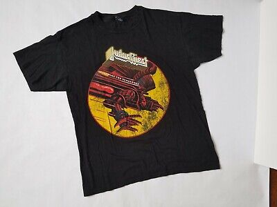 Judas Priest Screaming for Vengeance shirt Size Medium Front Logo Print Metal T