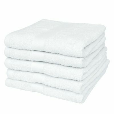 vidaXL Hotel Sauna Towel Set 25pcs Cotton 400gsm 80x200cm White Shower Linen~