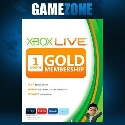 1 Month Xbox Live Gold Membership For Microsoft Xbox 360 / Xbox One Fast