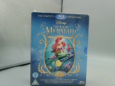 The Little Mermaid Trilogy 1-3 Movie Collection Blu-Ray Box Set Disney