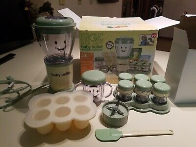 Magic Baby Bullet Complete Baby Food Making System 20 Piece Set. Hardly used