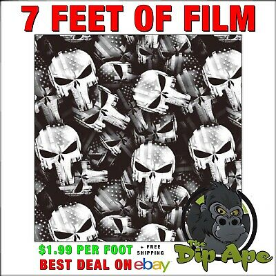 Hydrographic film Skulls American tactical punisher hydro dipping 7' Dip Ape