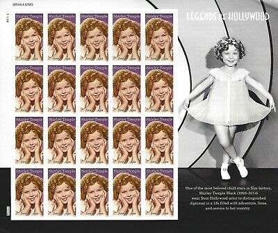 Shirley Temple Legends of Hollywood Forever USPS Stamp Sheet 20 Stamps 2016 USA