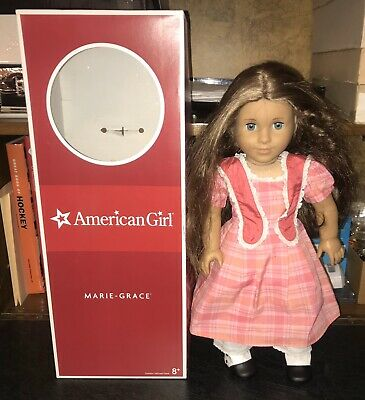 """2011 Retired 18"""" American Girl Doll - Marie Grace With Original Box & Outfit"""