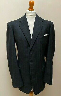 Vintage bespoke 1930's 1940's single breasted three piece suit size 44 long XL