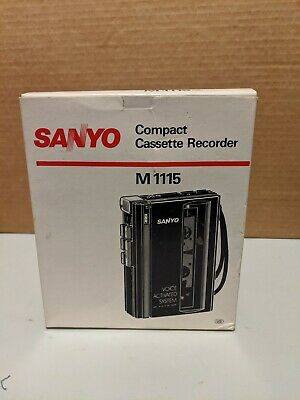 SANYO Compact Cassette Player M1115 with AC adapter
