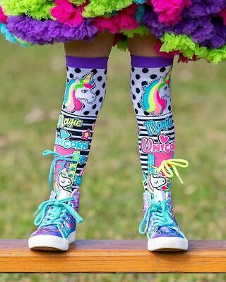 Madmia Colourful Magic Unicorn Socks Kids Adults Crazy Cool Fluro Mismatched Fun