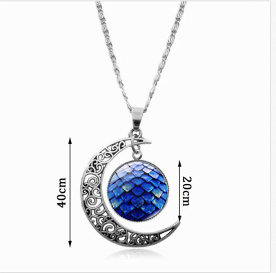 Game of Thrones Dragon's egg Pendant Moon Necklace Cosplay Costumes Promotion