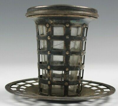 Antique WATSON Co. Arts & Crafts Sterling Silver Tumbler Cage with Lid NR BUB