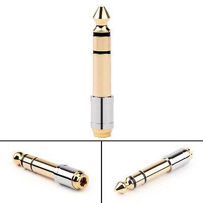"6.35mm 1/4"" Male Plug To 3.5mm 1/8"" Female Stereo Headphone Jack Audio Adapter S"