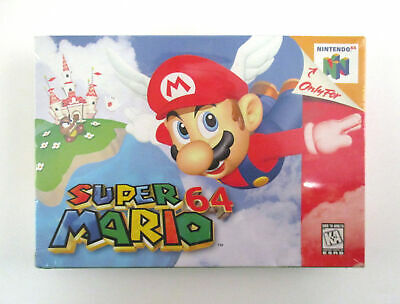 SUPER MARIO 64 Nintendo N64 Video Game BRAND NEW & SEALED! 1st Print Red Label
