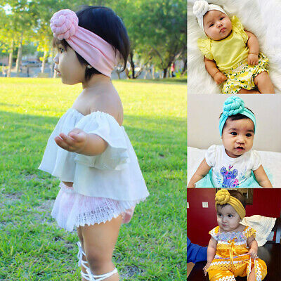 Baby Girls Kids Toddler Cotton Hairband Headband Stretch Turban Knot Head Wrap