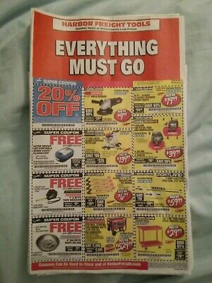 Forty-Two Harbor Freight Coupons Expires: 12/13/19, 12/25/19, 1/8/20 & 2/28/20