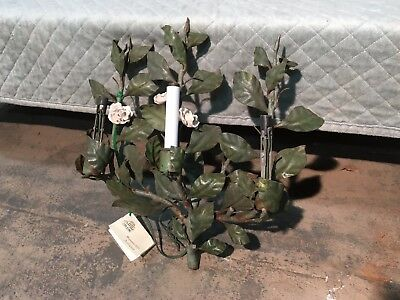Antique French Style Tole Sconce Made In Italy 3 Light Sconce