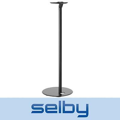 Single Speaker Floor Stand for Sonos One, One SL & Play:1 70cm Tall Black