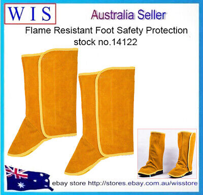 One Pair Long Cowhide Leather Shoe Protector, Heat & Abrasion Resistant Welding