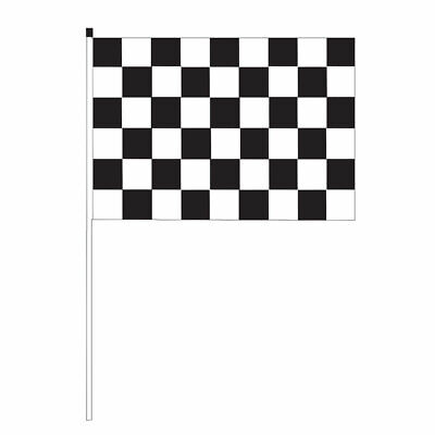 Whip-It Flags Specialty Flag - 3'x5' - 1/2 x 6' Pole Black Check Flag