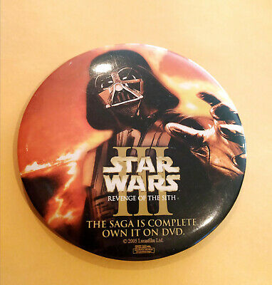 Star Wars III Revenge of the Sith Movie 2005 DVD Promo Button - Darth Vader