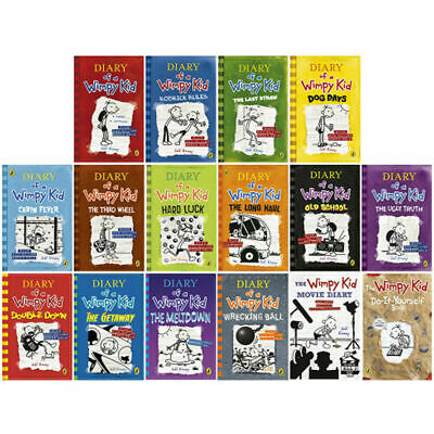 Diary of a Wimpy Kid 16 Books Collection Set by Jeff Kinney Meltdown PB NEW