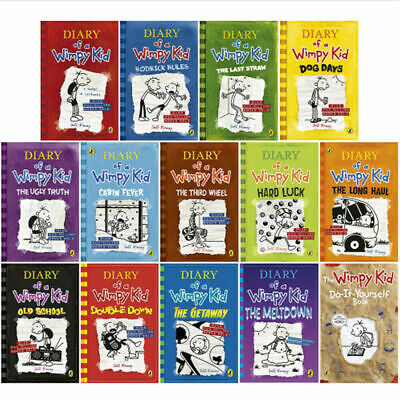 Diary Of A Wimpy Kid Collection 14 Books Set By Jeff Kinney (The Getaway) PB NEW