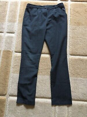 Girls School Uniform Grey Trousers Nutmeg Age 11-12 Pants
