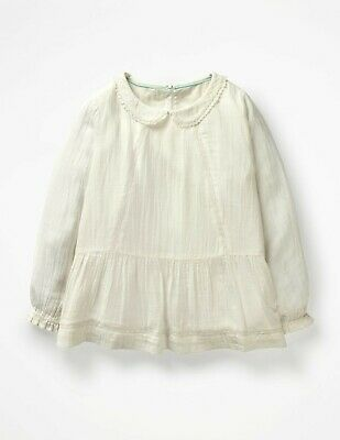 Mini Boden Pretty Detailed Blouse Top Girls Peter Pan Collar 4-12y BNWT Gift
