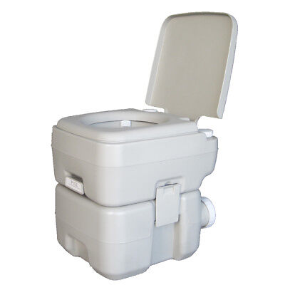 20L 5 Gallon Portable Toilet Outdoor Camping Hiking Garden Flush Potty Commode